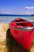 Red canoe — Stock Photo