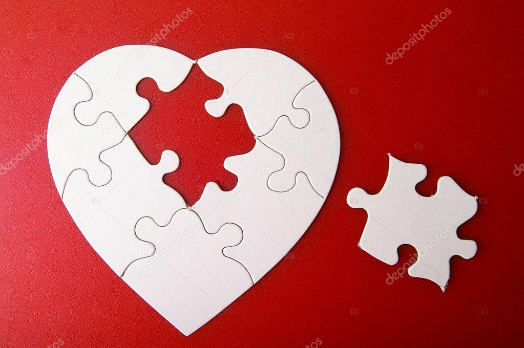 Как сделать сердце из пазлов