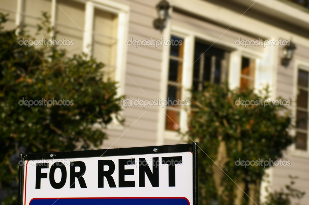 House  with For Rent sign — Stock Photo #9323949