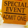 Special event ticket stub — Stock Photo