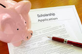 Scholarship application — Stock Photo
