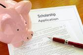Scholarship application — Stock Photo
