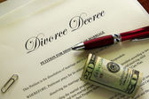 Divorce papers — Stock Photo