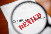Denied credit — Stock Photo