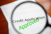 Approved credit — Stock Photo