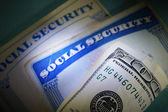 Money and Social Security — Stock Photo