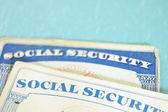 Social Security cards — Stock Photo