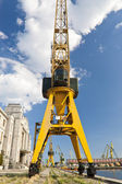 Giant yellow crane — Stock Photo