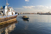 Constanta port bay view — Stock Photo