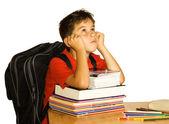 Bored schoolchild — Stock Photo