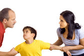 Conflict in family — Stock Photo