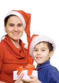 Chlapec s matkou — Stock fotografie