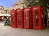 British telephone booths K6 — Stock Photo