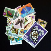 Stamp with butterfly — Stock Photo