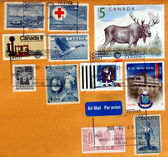 Canadian stamps — Stock Photo