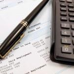 Balancing the finances — Stock Photo