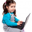 Stock Photo: Child with laptop