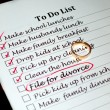 Planning a divorce - Foto Stock