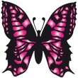 The vector image the pink butterfly — Stock Vector #9353053