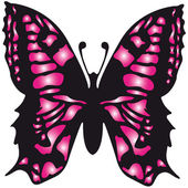 The vector image the pink butterfly — Stock Vector