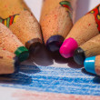 Stock Photo: Color Pencils Closeup
