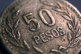 Foreign Money Coin - 50 Pesos — Stock Photo