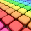 Color Rounded Cubes - Foto Stock
