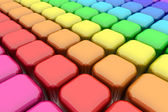 Color Rounded Cubes — Stock Photo