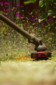 Стрижка газонов — Стоковое фото