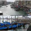 Grand Canal & gondola boats — Stock Photo