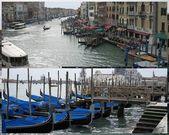 Grand Canal & gondola boats — Stock Photo