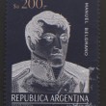 Manuel Belgrano stamp - circa 1984 — Stock Photo