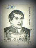 Manuel belgrano di francobolli - intorno al 1984 — Foto Stock