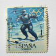 Spanish Olympic Games stamp, circa 1964 — Stock Photo