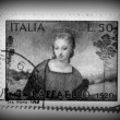Stock Photo: Italimadonnstamp, circ1970
