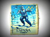 Spanish Olympic Games stamp, circa 1964 — Stock Photo