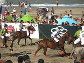 Beach polo demonstration 5 — Stock Photo