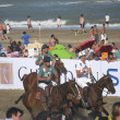 Argentina beach polo — Stock Photo