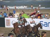 Argentina beach polo — Stock fotografie