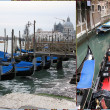 Gondola boats - Foto Stock