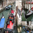 Venetian gondola boats — Stock Photo