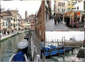 Venetian souvenirs & gondola boats — Stock Photo
