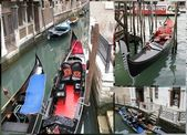 Venetian gondola boats — Stock Photo