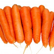 Fresh carrots isolated on white background. — Stock Photo