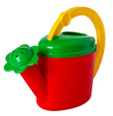 Children's multicolored watering can, isolated on a white backgr — Foto Stock