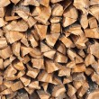 Stock Photo: Fire wood combined in woodpile