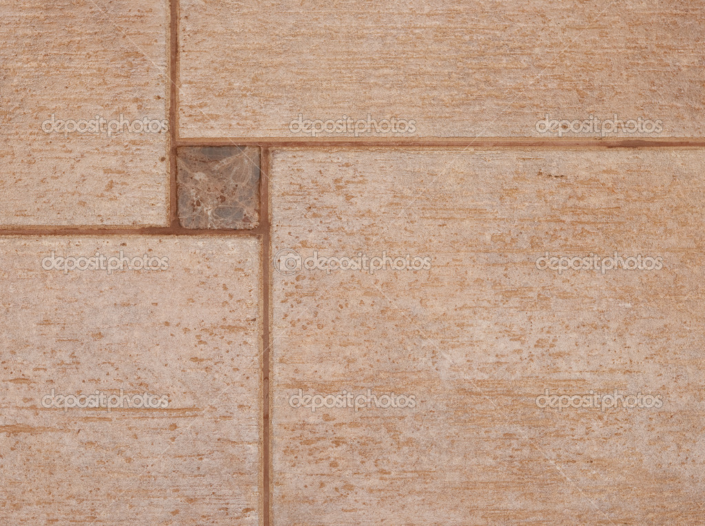 The texture of brown ceramic tiles can be used as a background. — Stock Photo #9269680