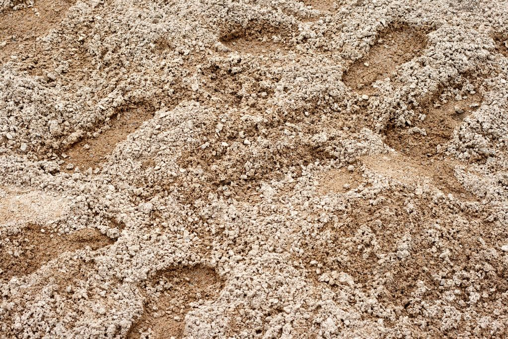 Footprints in the sand. Can be used as a background. — Stock Photo #9269742