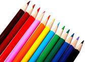 Barevné akvarelu tužky pro děti izolované na bílém pozadí — Stock fotografie