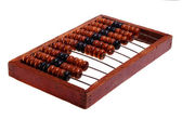 Old abacus, isolated on a white background (retro). — Stock Photo